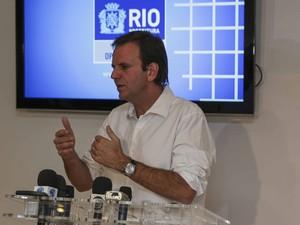 Eduardo Paes diz que vai desapropriar Campo da Fé (Foto: Raphael Lima/Divulgação/Prefeitura do Rio)
