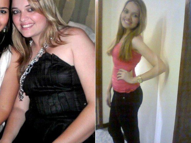 """""""Tudo melhora. Hoje eu consigo dormir mais cedo, acordo cedo e estou mais disposta"""", avalia Fernanda com 23 kg a menos (Foto: Arquivo pessoal)"""