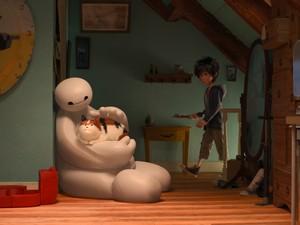Cena da animação da Disney 'Operação big hero' (Foto: Divulgação / Disney)