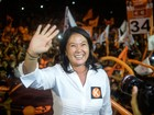 Keiko Fujimori segue na corrida presidencial no Peru