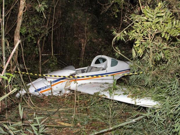 Ultraleve caiu neste domingo (21) e matou empresário em Veranópolis, na Serra do Rio Grande do Sul (Foto: Clovis Moraes Ribeiro/Arquivo pessoal)