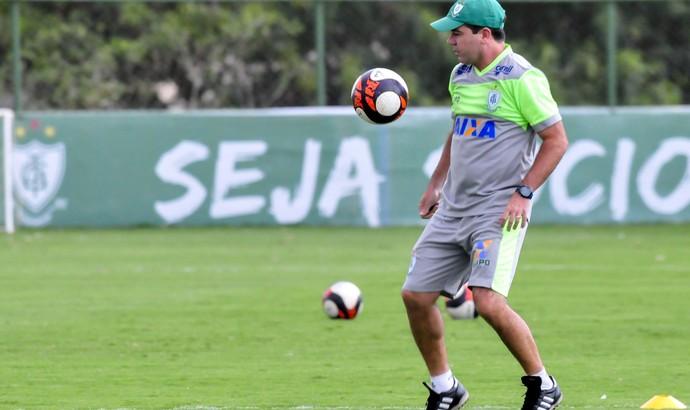 Enderson Moreira; América-MG (Foto: Carlos Cruz)