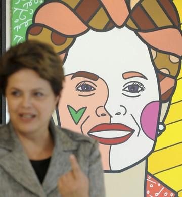 Dilma Rousseff - retrato Romero Britto (Foto: Fabio Rodrigues Pozzebom/ABr)