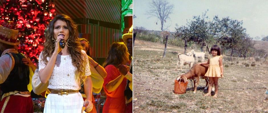 Paula Fernandes relembra infância e Natal com poucos recursos (Gshow / TV Globo)