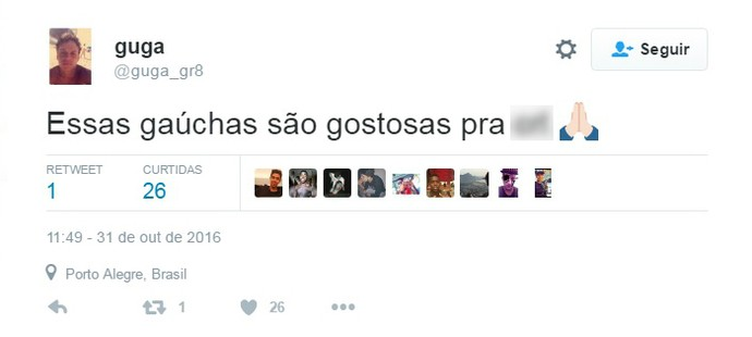 Volante Gustavo Rodrigues brinca com seguidores no Twitter (Foto: Reprodução / Twitter)