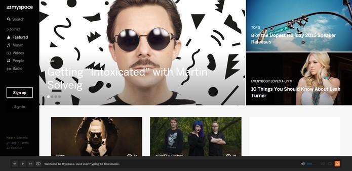 MySpace foi reformulado nos últimos anos para reconquistar usuários (Foto: Reprodução/MySpace)