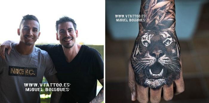 """BLOG: Danilo tatua tigre na mão: """"Dos animais mais ferozes e temido"""", explica tatuador"""