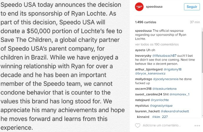 Speedo - Ryan Lochte (Foto: Reprodução/Instagram)