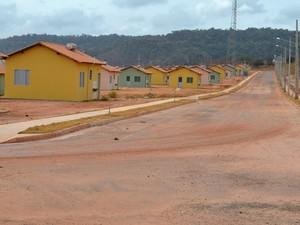 Residencial Salvação do Minha Casa Minha Vida em Santarém, PA (Foto: Adonias Silva/G1)
