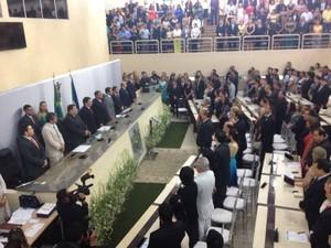 Deputados empossados no Amapá (Foto: Abinoan Santiago/G1)