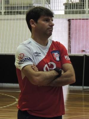 Vander Iacovino Joinville Futsal técnico (Foto: João Lucas Cardoso)