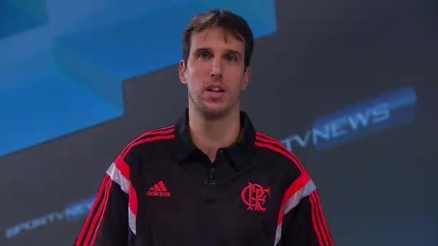 Marcelinho Machado, ala do Flamengo (Foto: Reprodução SporTV)