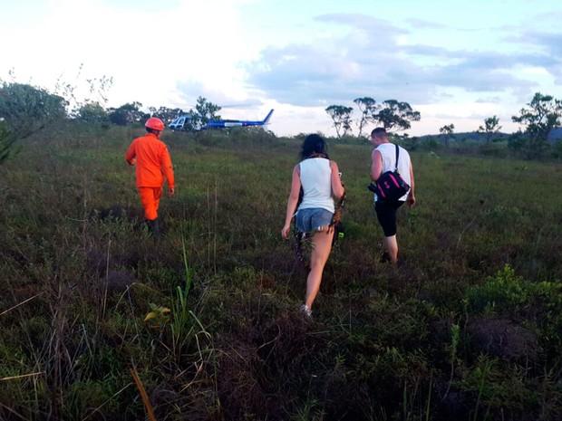 Resgate na Chapada (Foto: Divulgação/Corpo de Bombeiros)