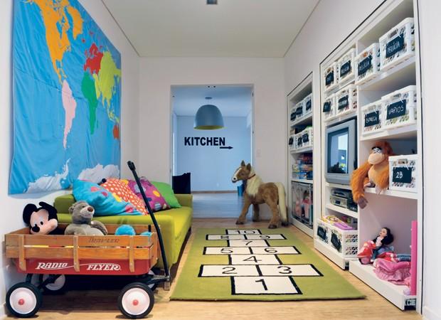 Sua casa está uma bagunça? No aplicativo, temos muitas ideias de organização. Na imagem, sugestão para arrumar os brinquedos das crianças (Foto: Evelyn Müller)