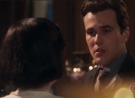 'Tempo de Amar': Odete deixa Vicente intrigado com o que diz durante surto