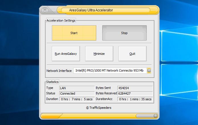 Ativando o Ultra Accelerator para acelerar os downloads do Ares Galaxy (Foto: Reprodução/Helito Bijora)