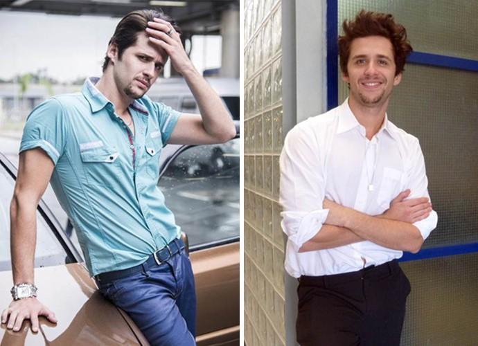 À esquerda, Gil Coelho como Lindomar, e à direita nos Bastidores do Encontro (Foto: Raphael Dias/Carolina Berger/Gshow)