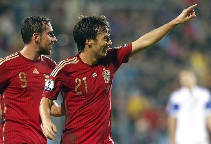 David Silva, gol Espanha (Foto: EFE)