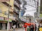 Incêndio atinge loja Casas Bahia do Centro de Valença, RJ