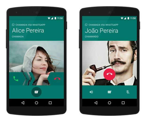 Chamada de voz sobre IP (VoIP) do WhatsApp. (Foto: Divulgação/WhatsApp)