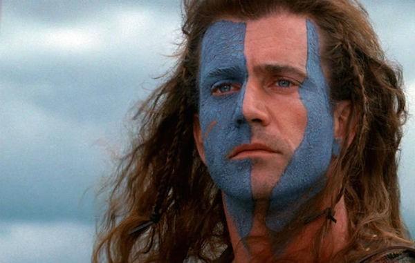 O ator Mel Gibson em cena de 'Coração Valente' (1995) (Foto: Reprodução)