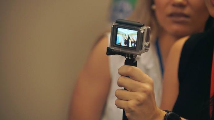 Olho na selfie! (Foto: Gshow)