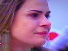 Ana Paula, do BBB 16, se emociona durante o 'Mais Você'