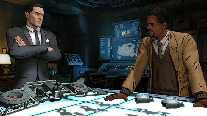 Bruce Wayne conversa com Lucius Fox (Foto: Divulgação/Telltale)