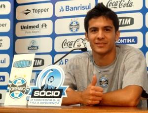 bertoglio grêmio (Foto: Lucas Rizzatti/Globoesporte.com)