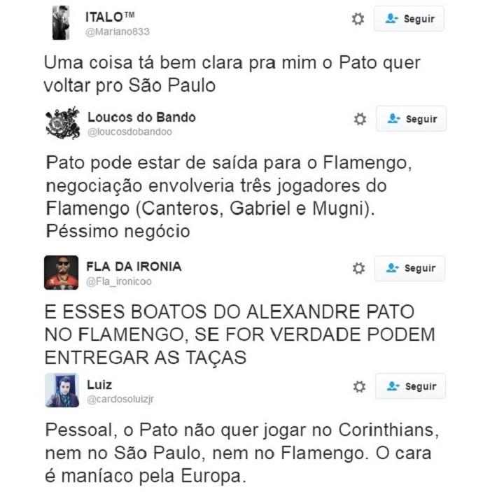 Torcedores Pato redes sociais (Foto: GloboEsporte.com)