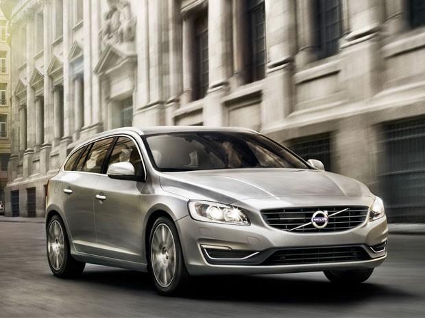 Novo visual do Volvo V60 (Foto: Divulgação)
