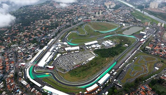 Imagem aérea de Interlagos