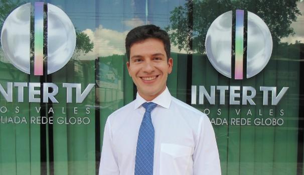 Filipe Ciribelli, repórter da Inter TV dos Vales (Foto: Arquivo Pessoal)