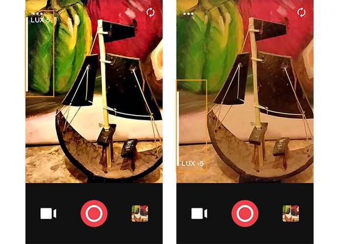 Ajuste de contraste nas imagens registradas pelo Camu (Foto: Reprodução/Barbara Mannara)