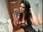 Solange Gomes sensualiza de camisola preta