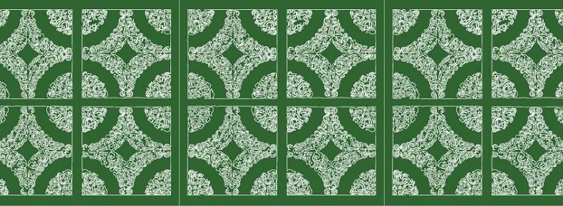 O azulejo da cozinha verde, que acabou se transformando no símbolo da casa (Foto: Divulgação/ Flickr Casa de Lua)