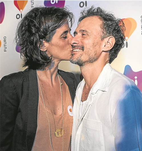 Mariana Lima e Enrique Diaz  (Foto: Paula Johas)