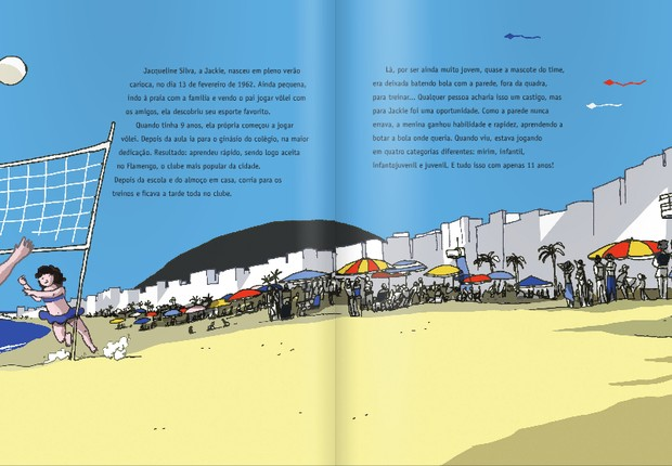 Uma das páginas do livro dedicado a ensinar às crianças um pouco sobre o esporte (Foto: Reprodução)
