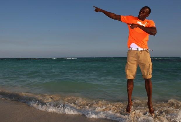 Praia na Jamaica com um de seus mais ilustres moradores: Usain Bolt (Foto:  Ian Walton/Getty Images)