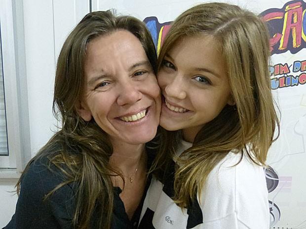 Dia das mães: Alice e Adriana Wegmann (Foto: Malhação / TV Globo)