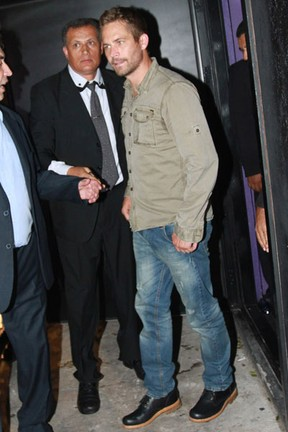 Paul Walker em festa em São Paulo (Foto: Leo Franco e Caio Duran/ Ag. News)