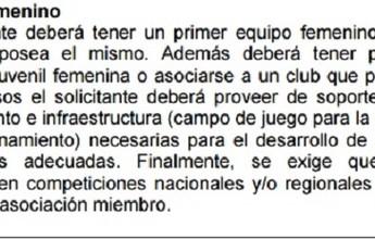 Clubes precisarão manter equipes femininas para jogar Libertadores