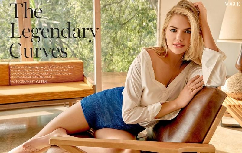 Kate Upton mostra suas curvas na edição de abril da Vogue Tailândia  (Foto: Divulgação)
