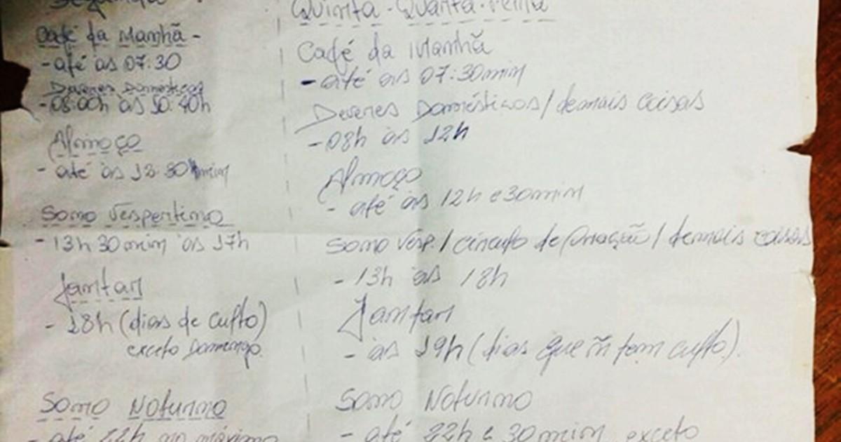 Populares G1 - Com lista de tarefas diárias, homem mantém mulher em cárcere  RD79