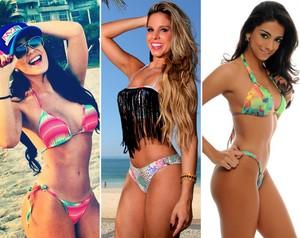 Gabrielle Cardoso, Raquel Guarini e Tainá Grando também tomam os devidos cuidados (Foto: Arquivo pessoal/Neto Fernandez/Fábio Siman)