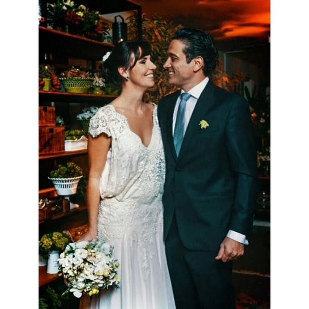Glenda Kozlowski e Luis Tepedino (Foto: Reprodução/ Instagram)