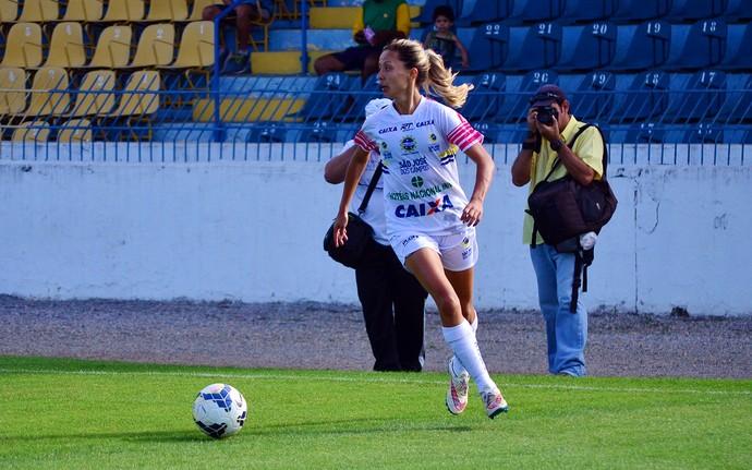 Sâmia São José futebol feminino (Foto: Danilo Sardinha/GloboEsporte.com)