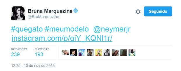 Bruna Marquezine elogia Neymar (Foto: Reprodução/Twitter)