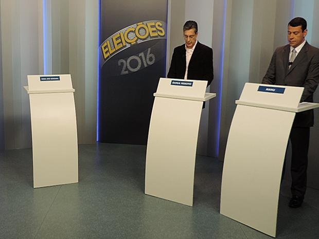 Debate entre os candidatos à Prefeitura de Tatuí  (Foto: Wilton Tormena/G1)