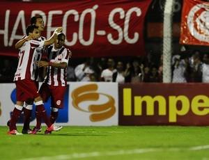 Damião fez o primeiro gol contra o São Luiz (Foto:  Alexandre Lops / Inter, DVG)